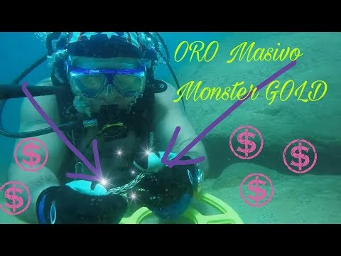 ORO MASIVO ! MONSTER GOLD found !! Exciting Scuba Diving Treasure Hunt In Paradise !