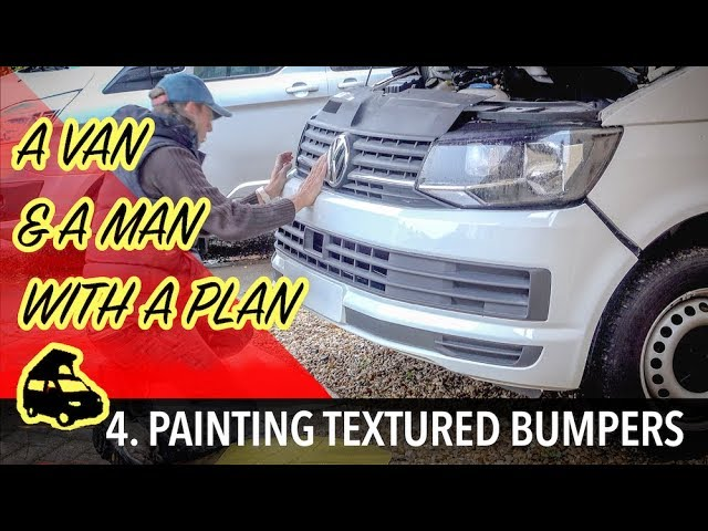 Painting the bumpers on my VW Transporter T6