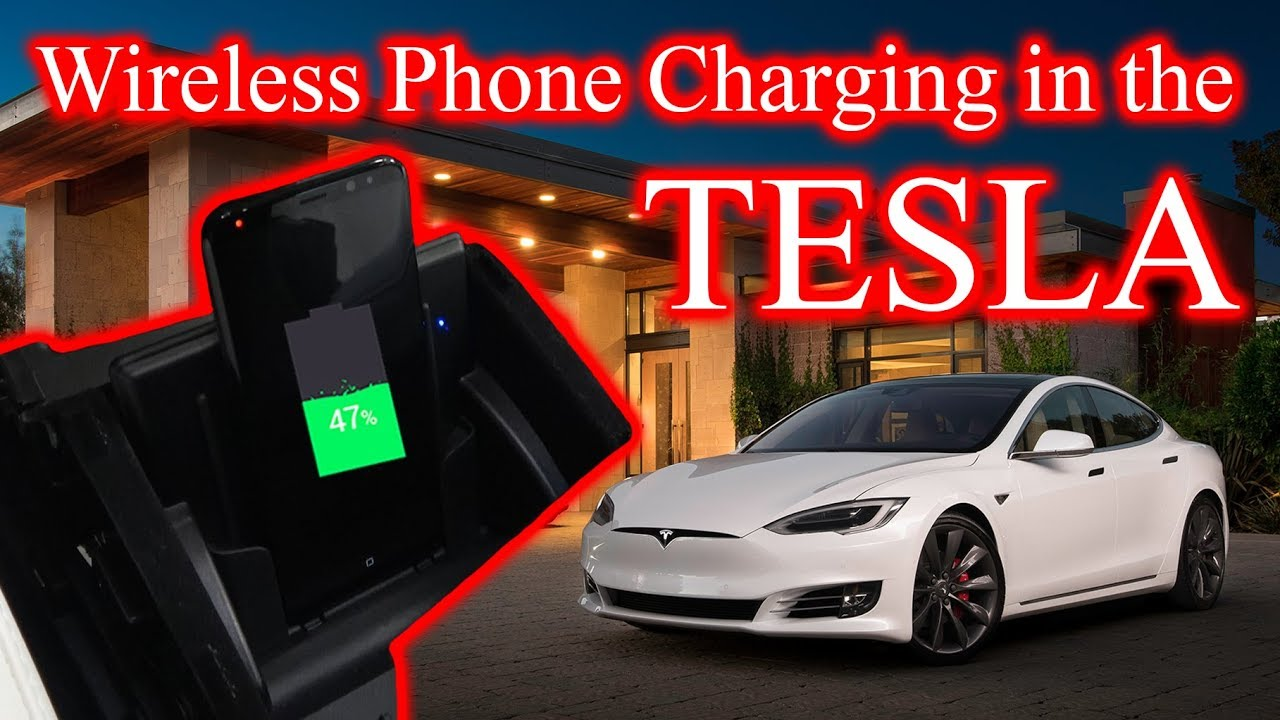 Wireless Qi Charger In My Tesla Android Le 8 X