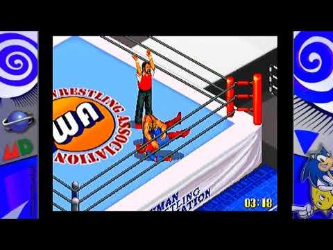 Zagrajmy W.. Fire Pro Wrestling S 6 Man Scramble Na SEGA Saturn.