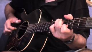 Kathy's song - Paul Simon fingerpicking guitar