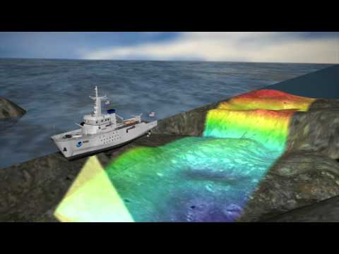 NOAA ocean charting operations - multibeam animation