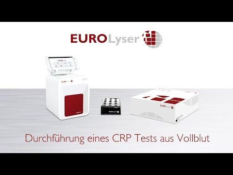 Durchführung eines CRP-Tests aus Vollblut auf dem Eurolyser CUBE-S