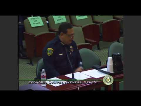 Houston Police Chief Art Acevedo Testimony for House Economic Competitiveness Committee