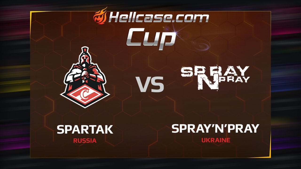 [EN] Spartak vs spray'n'pray, map 1 train, Hellcase Cup Season 5