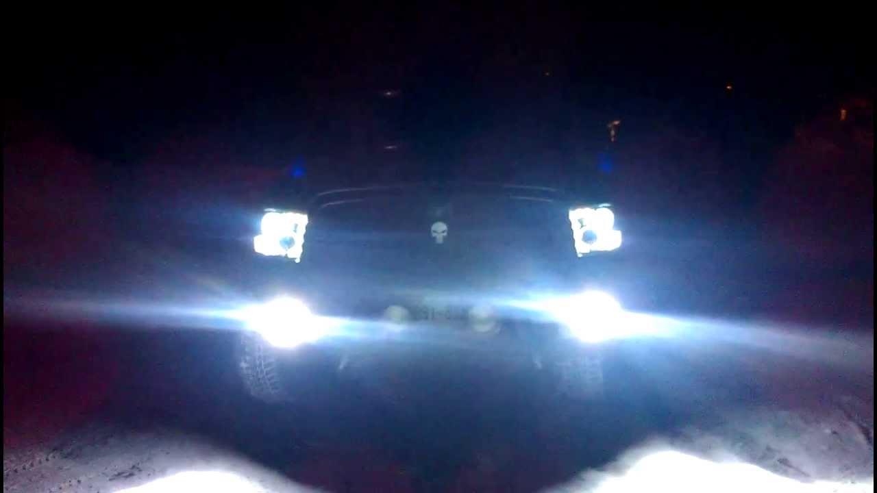 Night Shot Of Go Recon Lights On 4th Gen Ram Youtube