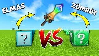 ELMAS VS ZÜMRÜT ŞANS BLOKLARI - Minecraft
