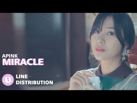 APINK(에이핑크) - Miracle(기적 같은 이야기) : Line Distribution (Color Coded)