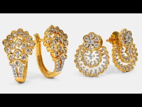 Latest Designer Gold Ear-Studs From Bluestone