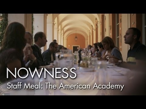 """The Staff Meal at the American Academy in Rome"" by Alex Infascelli"