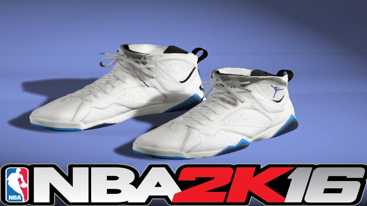 497a31151bd2c5 ... NBA 2K16 Shoe Creator - Jordan 7 French Blue ⋆NBA2K16⋆ ...