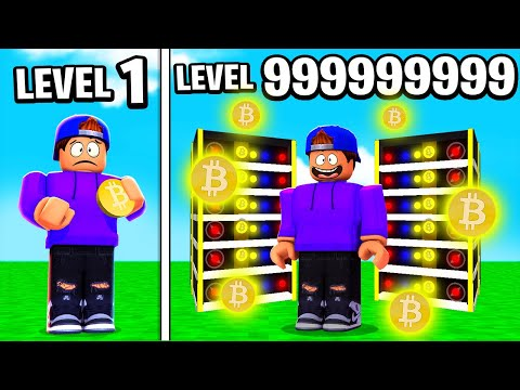 I BECAME A BITCOIN BILLIONAIRE IN ROBLOX BITCOIN MINER!