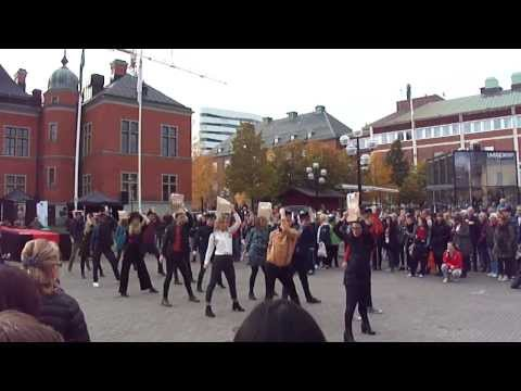 Swedan(UMEA) Great dance by university students @City center on 15th October 2013