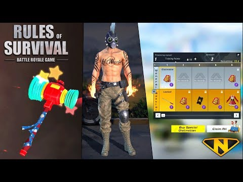 *NEW* Battle Pass, Fist of Fury, and Rainbow Hammer! (Rules of Survival)