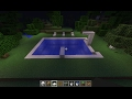 How To Make Beautiful Modern Swimming Pool In Minecraft [1080p] [EASY]