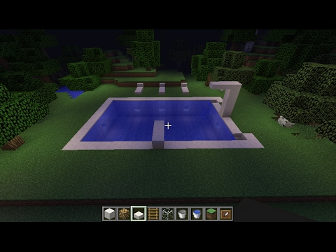 How To Make Beautiful Modern Swimming Pool In Minecraft 1080p Easy Youtube