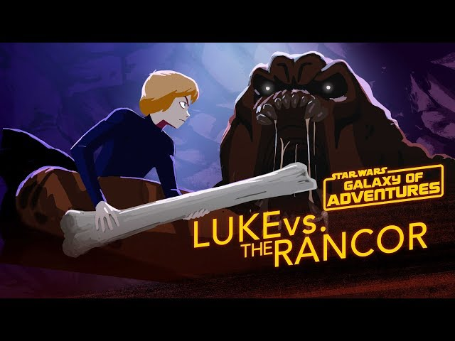 Luke vs. the Rancor - Wrath of the Rancor | Star Wars Galaxy of Adventures