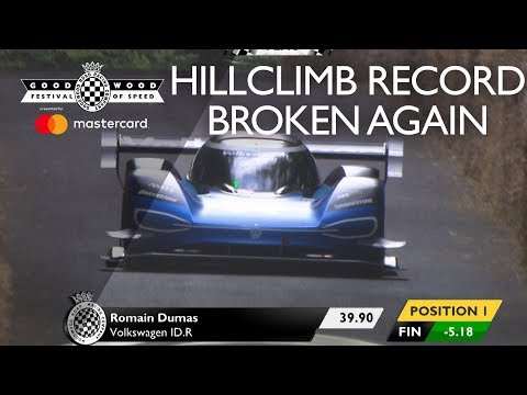Romain Dumas sets even quicker Goodwood record in electric VW ID.R: 39.9 seconds