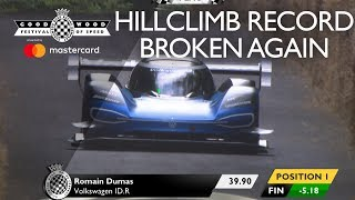 Volkswagen ID.R Smashes Goodwood hill record with 39.9 second run!