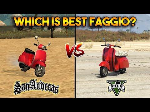 GTA 5 FAGGIO VS GTA SAN ANDREAS FAGGIO : WHICH IS BEST?