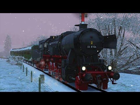 Winterliche Dampfsonderfahrt mit der BR52 im Köblitzer Bergland Führerstandsmitfahrt TS 2017