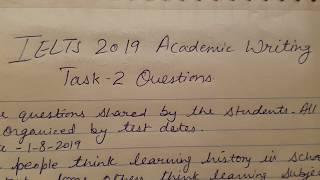 Ielts academic task 2 real exam questions | idp & bc wisdom