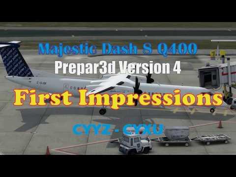 Majestic Q400 P3d v4 First Impressions (CYYZ-CYXU) with VATSIM ATC