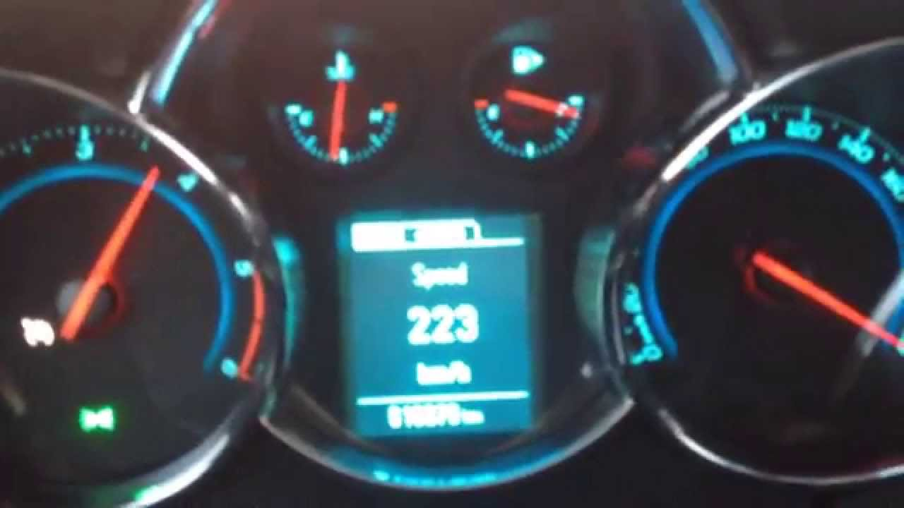 200 hp cruze near top speed - YouTube