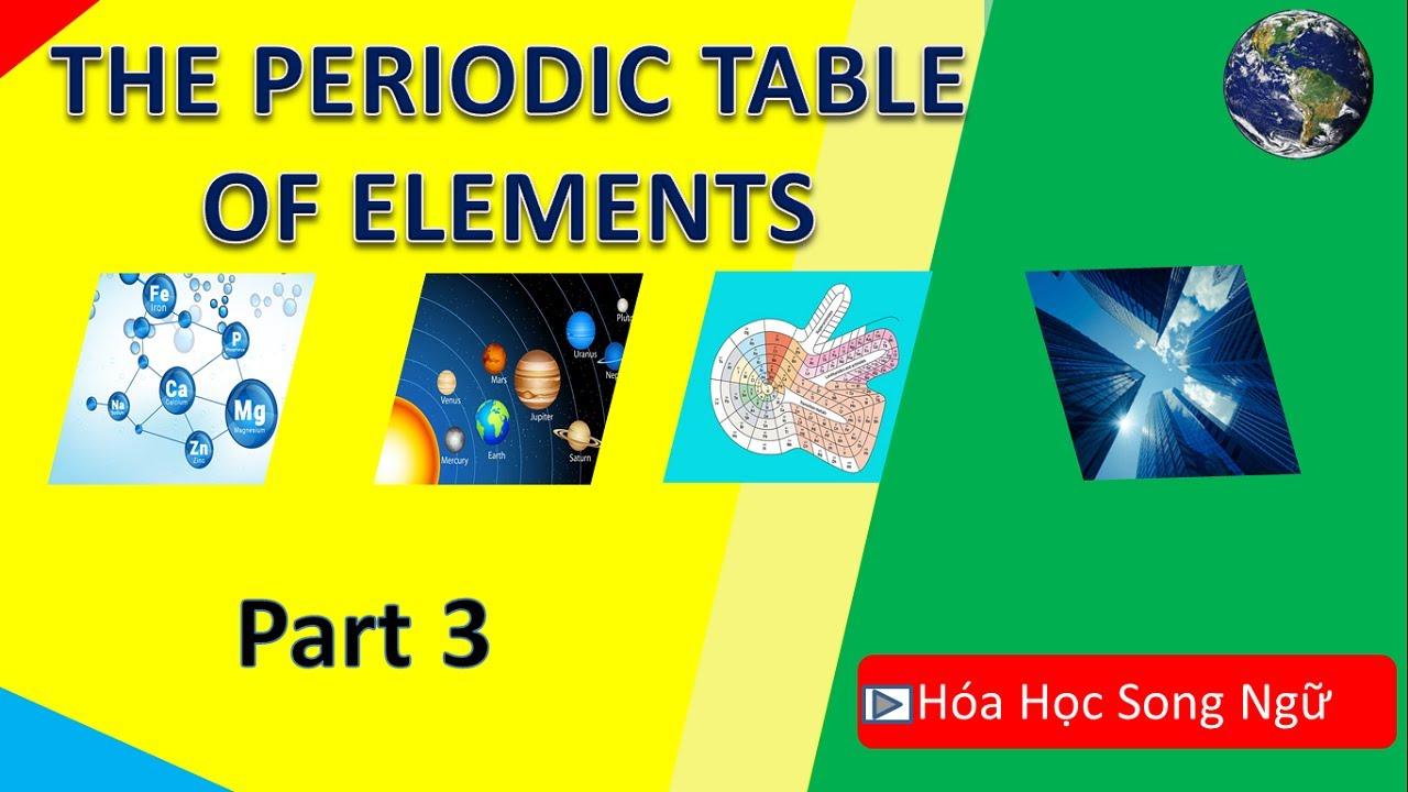 Hóa họcữ lớp 10 bài 7 : Bảng tuần hoàn nguyên tố hóa học-The periodic table of  elements-Part3