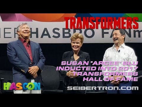 HASCON 2017: Transformers Hall of Fame Susan Blu Induction with Frank Welker and Peter Cullen