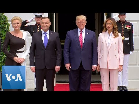 President Trump Welcomes Polish President to the White House