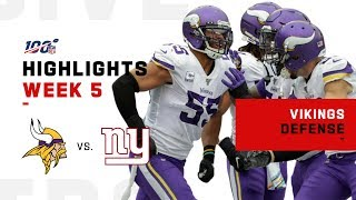 Vikings Defensive Highlights vs. Giants | NFL 2019