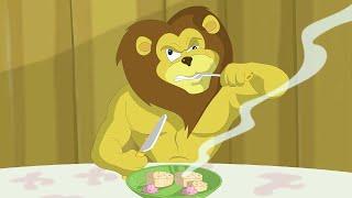 Eena Meena Deeka   Jantar dos Leões   Desenhos animados para crianças  WildBrain em Português