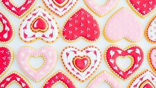 Galletas de Corazón 💖 Decoradas con Glasé Real || Tan Dulce