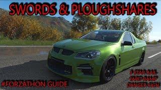 Forza Horizon 4 - Forzathon Guide 'Swords to Ploughshares' - 3 Star Rail Yard Danger Sign