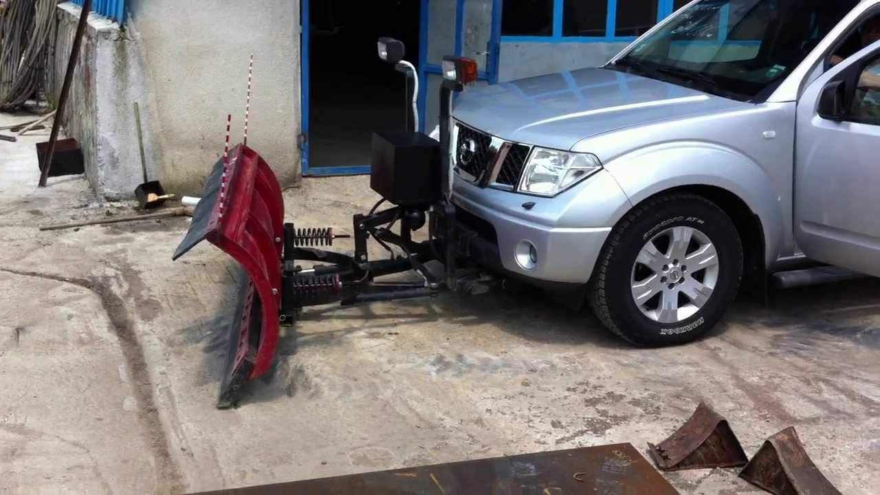 Nissan Navara Snow Plow Youtube