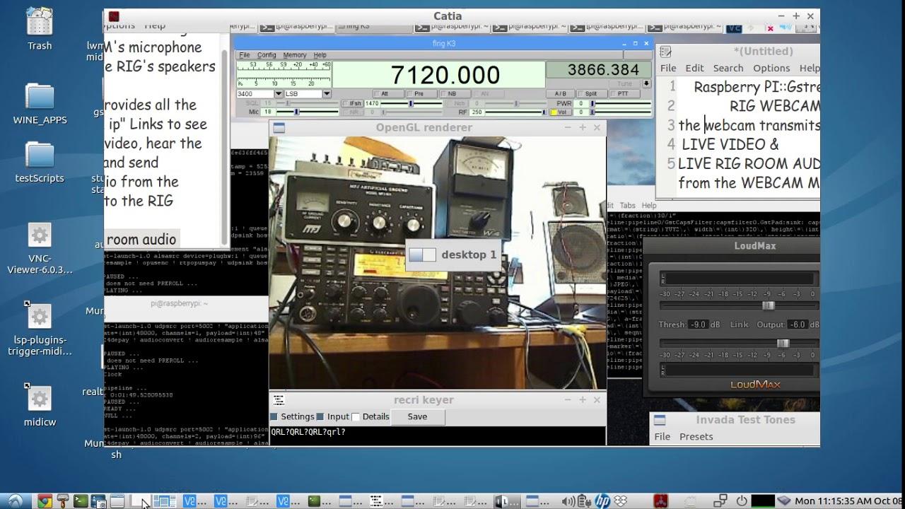 Raspberry Pi::USB webcam - streaming webcam video & webcam audio to a PC -  using Gstreamer scripts