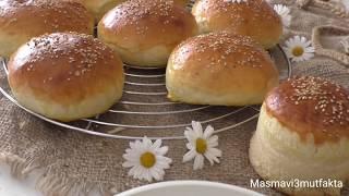 Pamuk gibi Nefis Hamburger Ekmeği Tarifi  ▪Masmavi3mutfakta Tarifleri ▪