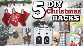 5 DIY Dollar Store Christmas Hacks YOU NEED! | Dollar Tree Christmas DIYS 2019 | Krafts by Katelyn