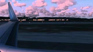 Sun Express Boeing 737-800 landing @ Antalya airport [FS2004]