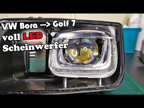 VW Jetta IV Golf VII Full LED Headlights construction Video