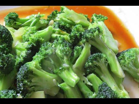 Brócoli verde y Crujiente