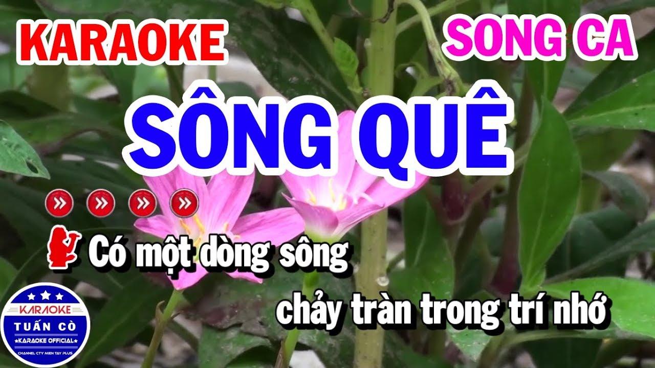 Karaoke Sông Quê | Nhạc Sống Song Ca Beat Gm | Karaoke Tuấn Cò