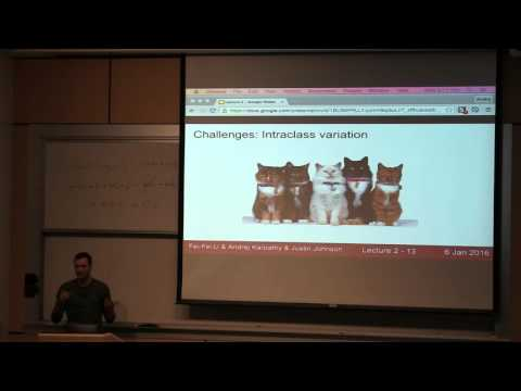 CS231n Winter 2016: Lecture 2: Data-driven approach, kNN, Linear Classification 1
