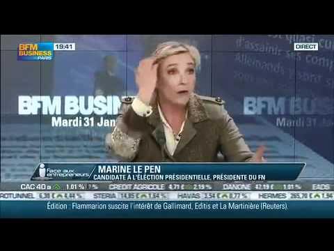 Marine Le Pen Face aux entrepreneurs : invitée de BFM Business