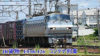JR貨物 EF66-126  コンテナ列車、稲沢発車 走行動画  Japan Freight Railway Company