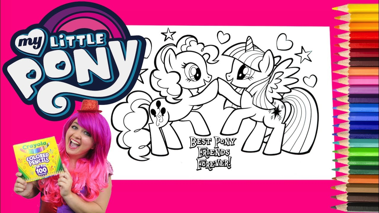 Coloring Pinkie Pie Twilight Sparkle My Little Pony