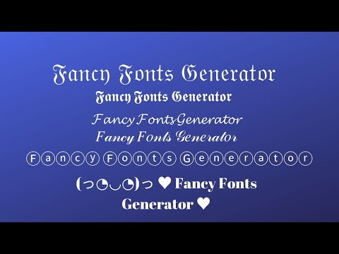 Fancy Text/font Generator