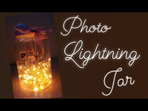 Diy Photo Lightning Jar Fairy Lights Mason Jar Diy Youtube