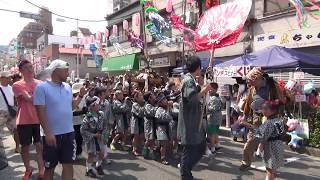 松葉小学校子供神輿/下町七夕まつり2017